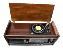 Vintage radio-gramophone Stock Images