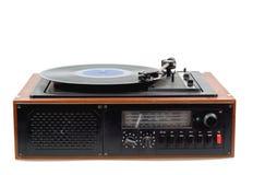 Vintage radio gramophone player with vinyl Royalty Free Stock Image