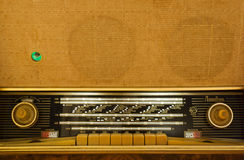 Vintage radio-gramophone working Royalty Free Stock Photos