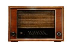 Vintage radio isolated stock photography