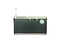 Vintage radio isolated Stock Photography