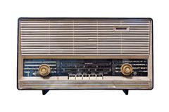 Vintage radio isolated. With clipping path Stock Photo
