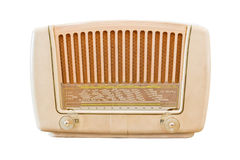 Vintage radio isolated. With clipping path Royalty Free Stock Images