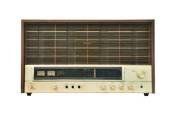Vintage radio isolated Royalty Free Stock Photos
