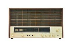 Vintage radio isolated royalty free stock photos