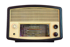 Vintage radio isolated. Over white background, clipping path Royalty Free Stock Image