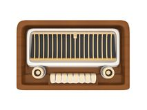 Vintage Radio Isolated. On white background. 3D render Stock Photos