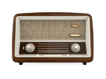 Vintage Radio Isolated. On white background. 3D render Royalty Free Stock Image