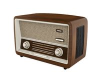 Vintage Radio Isolated. On white background. 3D render Stock Images