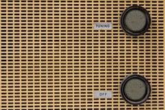 Vintage radio knob Royalty Free Stock Images