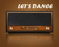 Vintage radio Lets dance Stock Photos