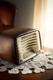 Vintage radio in the living room Royalty Free Stock Photos