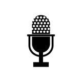Vintage radio microphone Stock Photo