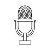 Vintage radio microphone Stock Photography
