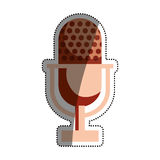 Vintage radio microphone Royalty Free Stock Photos