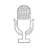 Vintage radio microphone Royalty Free Stock Photo