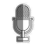 Vintage radio microphone Royalty Free Stock Photography