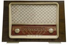 Vintage radio off. Ancient radio, 50's, isolated on white background Stock Photo