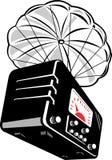 Vintage radio with parachute Royalty Free Stock Photo