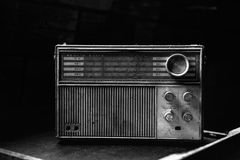 Vintage radio from 1970 Royalty Free Stock Images