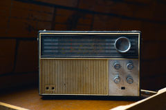 Vintage radio from 1970 Stock Photos