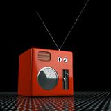 Vintage radio of plastic and metal Stock Photography