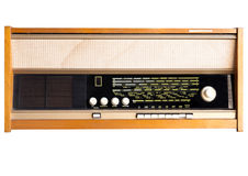 Vintage radio receiver Royalty Free Stock Images