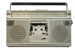 Vintage radio receiver and cassette recorder player royalty free stock photos