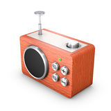 Vintage radio receiver. 3D vintage touch radio receiver Royalty Free Stock Photo