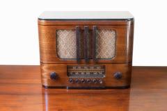 Vintage radio receiver. Vintage vacuum tubes table top radio receiver Royalty Free Stock Photography