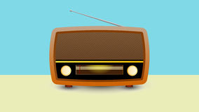 Vintage radio receiver. Vector illustration of a brown vintage radio receiver Royalty Free Stock Photography
