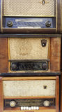 Vintage radio receivers, tuners Stock Photo