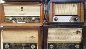 Vintage radio receivers, tuners Royalty Free Stock Image