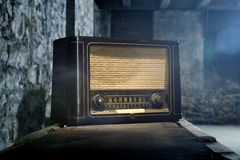 Vintage Radio's. Vintage radio on an assembly line royalty free stock images