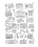 Vintage radio set, sketch for your design Stock Images