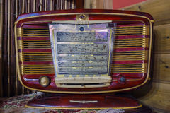 Vintage radio with a small depth the sharpness Stock Photography