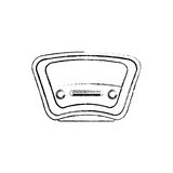 Vintage radio stereo. Icon  illustration graphic design Royalty Free Stock Photo