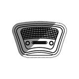 Vintage radio stereo. Icon  illustration graphic design Royalty Free Stock Images