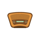 Vintage radio stereo. Icon  illustration graphic design Stock Photography