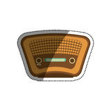 Vintage radio stereo. Icon  illustration graphic design Royalty Free Stock Photography