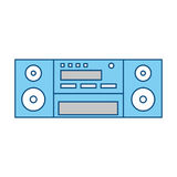 Vintage radio stereo Royalty Free Stock Images