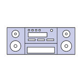 Vintage radio stereo Royalty Free Stock Photo
