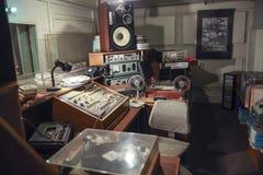 Vintage radio studio stock images