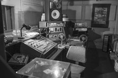 Vintage radio studio royalty free stock images