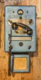 Vintage radio telephone Stock Image
