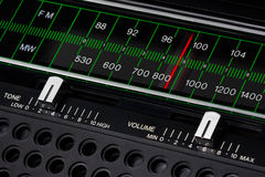 Vintage radio tuner Royalty Free Stock Photos