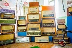 Vintage radio tuner receivers Royalty Free Stock Photo
