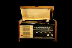 Vintage radio and vinyl player Royalty Free Stock Images