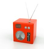Vintage radio on white background Stock Photography