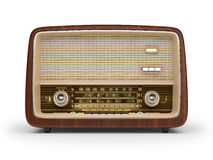 Vintage radio. On a white background Royalty Free Stock Image